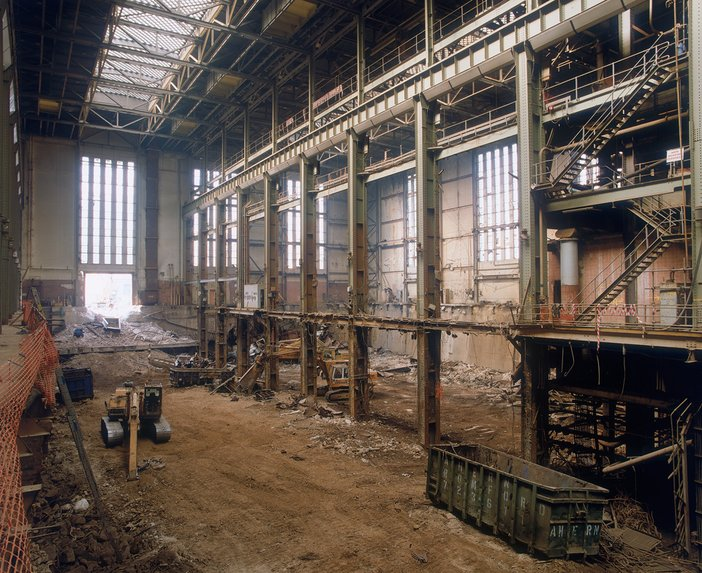 Interior of Bankside Power Station during plant removal, 1995