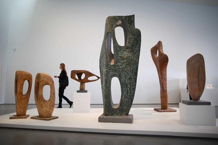 Barbara Hepworth Installation view, The Hepworth Wakefield five