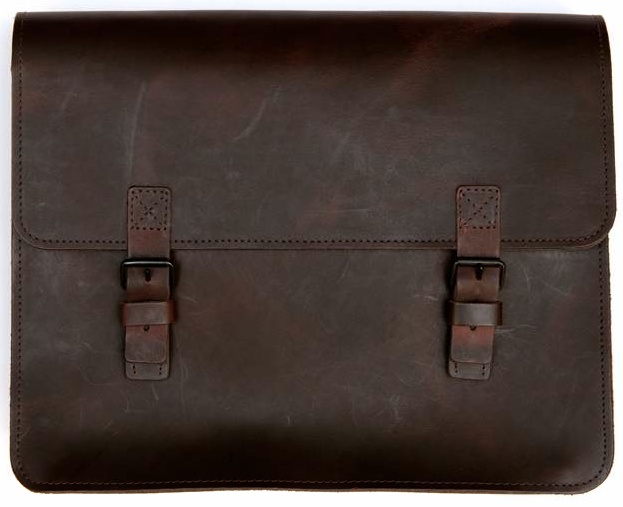 Large dark brown Barbara Wiggins satchel