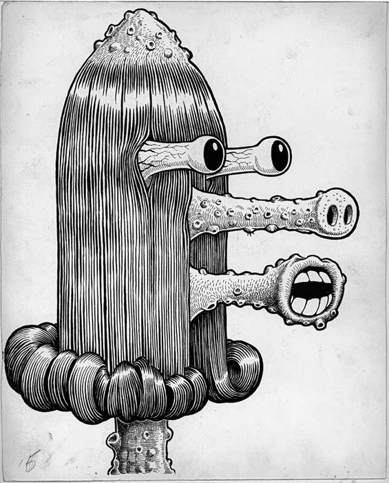 Basil Wolverton, Heap 1955 ink on paper