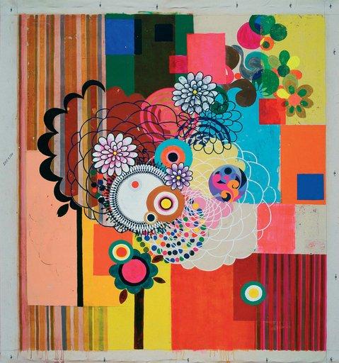 Beatriz Milhazes Panamerican 2004 Acrylic on canvas