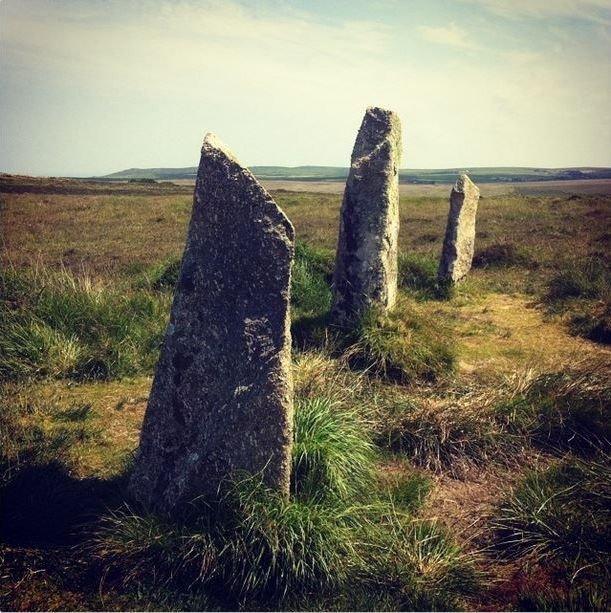 Nine Maidens stone circle Boskednan Penzance Cornwall