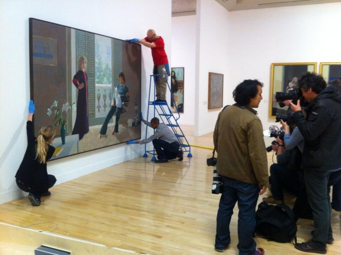 Tate Britain's re-hang: Hockney's 'Mr & Mrs Clark and Percy' taken by Assistant Curator Helen Little