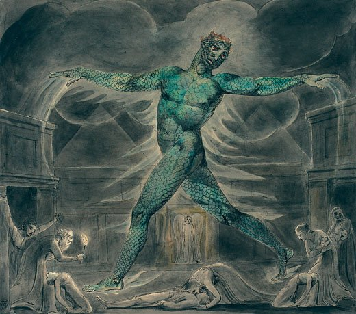 William Blake Pestilence: Death of The First Born