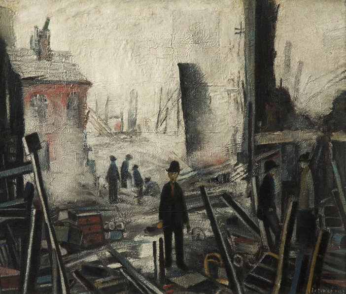 L.S. Lowry Blitzed Site 1942