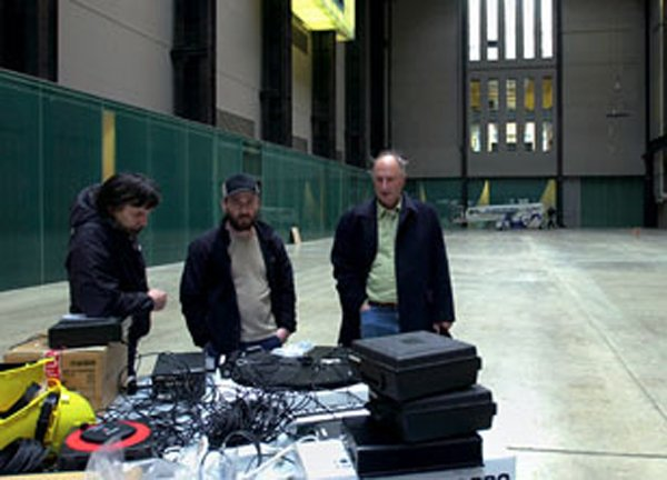 Bruce Nauman in the Tate Modern Turbine Hall July 2004