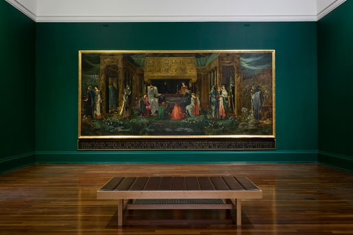 The painting in situ at Tate Britain. Sir Edward Coley Burne-Jones, The Sleep of Arthur in Avalon