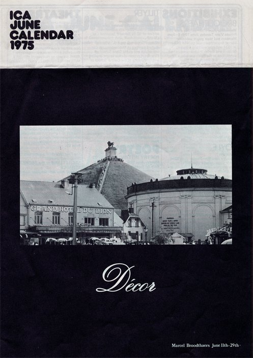 Bulletin of the ICA with a photograph of the monument at Waterloo, Belgium