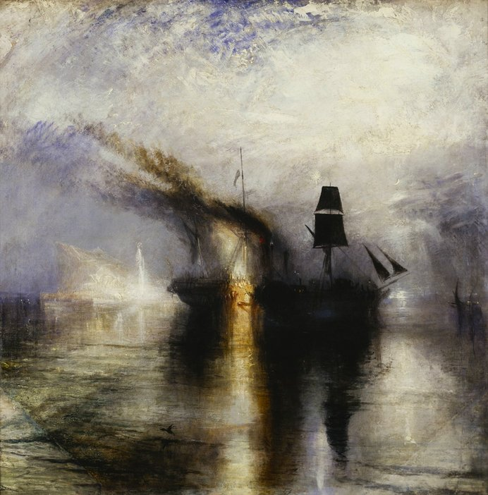 JMW Turner Peace - Burial at Sea exhibited 1842