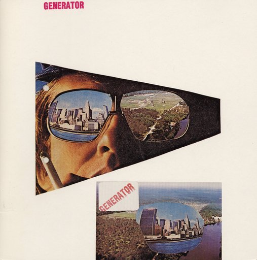 Cedric Price Cover design for Generator to accompany his exhibition at the Waddington Gallery 1981