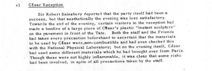 Excerpt from Tate Board Meeting Minutes, 21 March 1968, p.3.