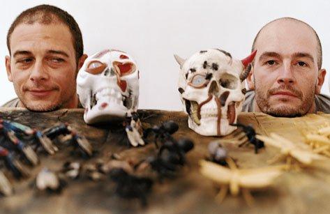 Dinos and Jake Chapman Photograph with skulls