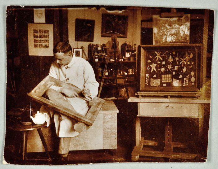 Klee in his Weimar Bauhaus studio, 1924. Photograph: Felix Klee, Zentrum Paul Klee, Bern