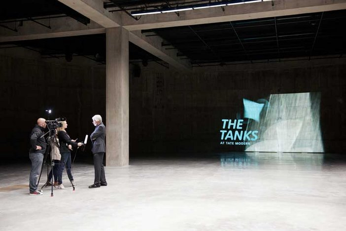 Chris Dercon, Director of Tate Modern, at the opening of the the Tanks at Tate Modern