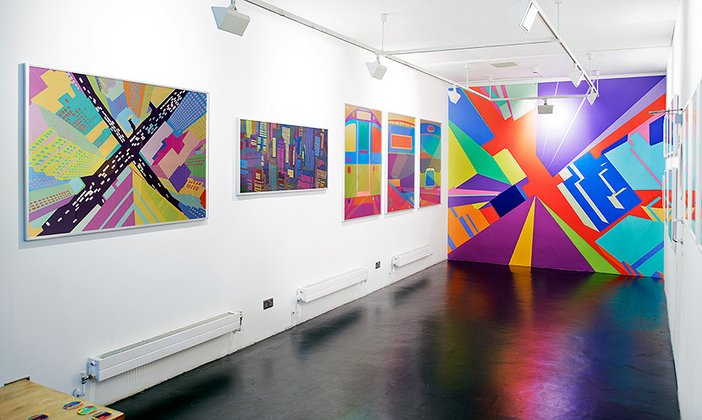Yoni Alter's City exhibition at Kemistry gallery