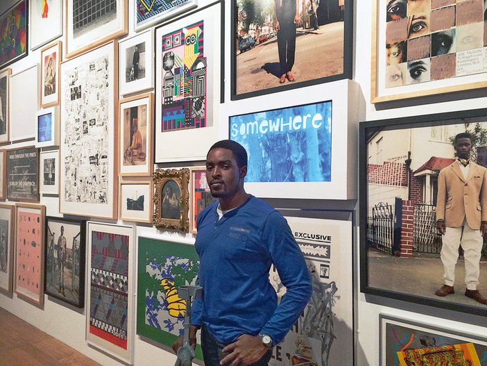Raphael Oyelade in BP Spotlight: Source display at Tate Britain, July 2014