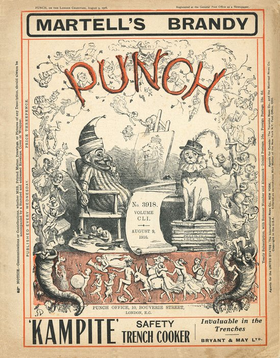 Front cover of Punch magazine 12 April 1912