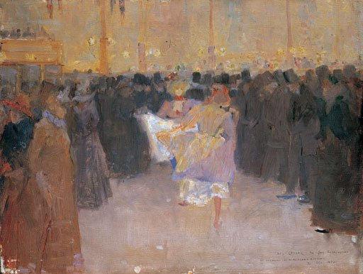 Charles Conder The Moulin Rouge 1890 Oil on panel
