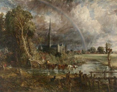 John Constable, Salisbury Cathedral from the Meadows 1831