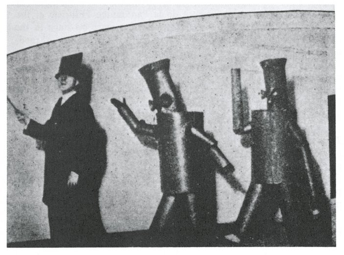 Costumes by Fortunato Depero for his ballet Machine of 3000