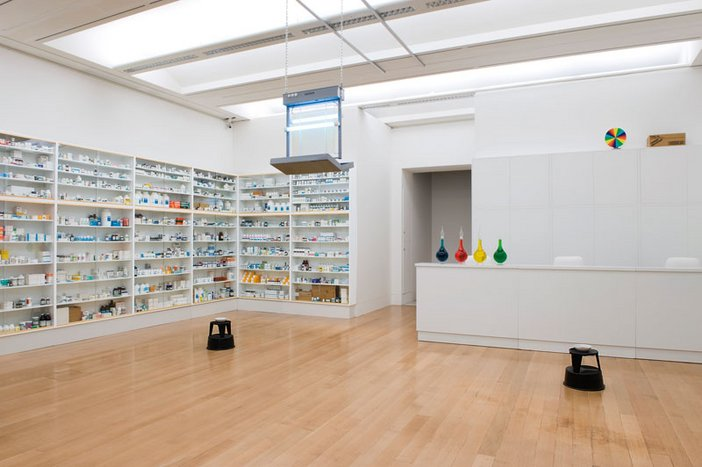 Damien Hirst's Pharmacy installed at Tate Britain
