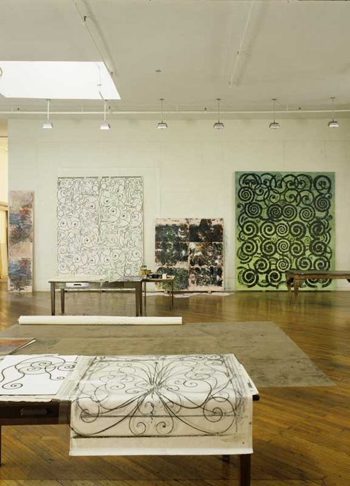 David Seidner Philip Taaffe's New York studio 1993