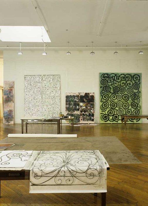 David Seidner Philip Taaffe's New York studio 1993