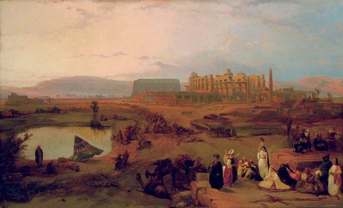 David Roberts Ruins of the Great Temple of Karnak 1845