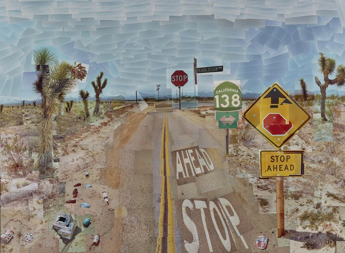 David Hockney, Pearblossom Hwy. 11–18th April 1986, #1, 1986