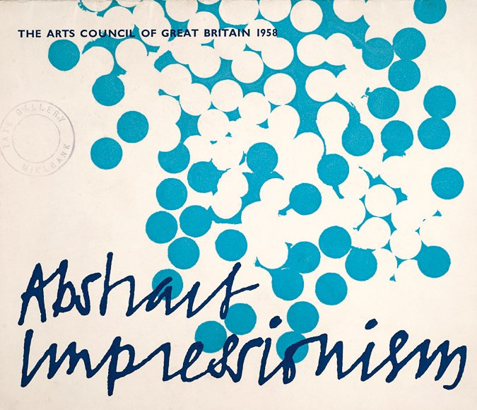 Cover of catalogue for the Arts Council's 'Abstract Impressionisms' exhibition, 1958