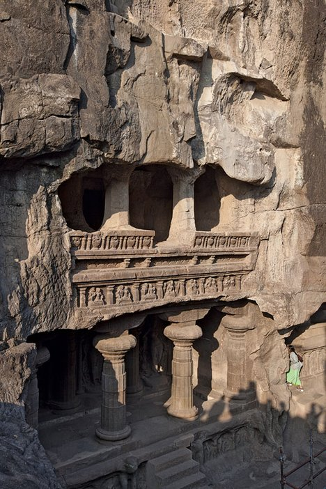 The Ellora caves, Aurangabad, India, photographed by Bruno Poppe, 2000