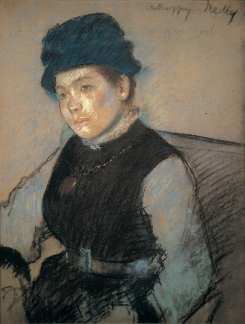 Edgar Degas Unhappy Nelly Pastel on paper, woman with frown