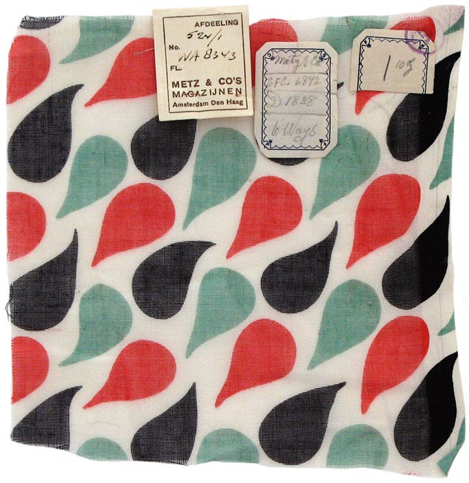 Sonia Delaunay, Design 965 fabric sample, created for Metz & Co, 1930