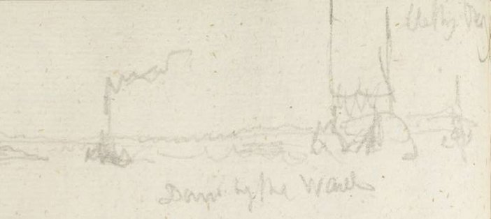Detail J.M.W. Turner Down by the Waal ?1833