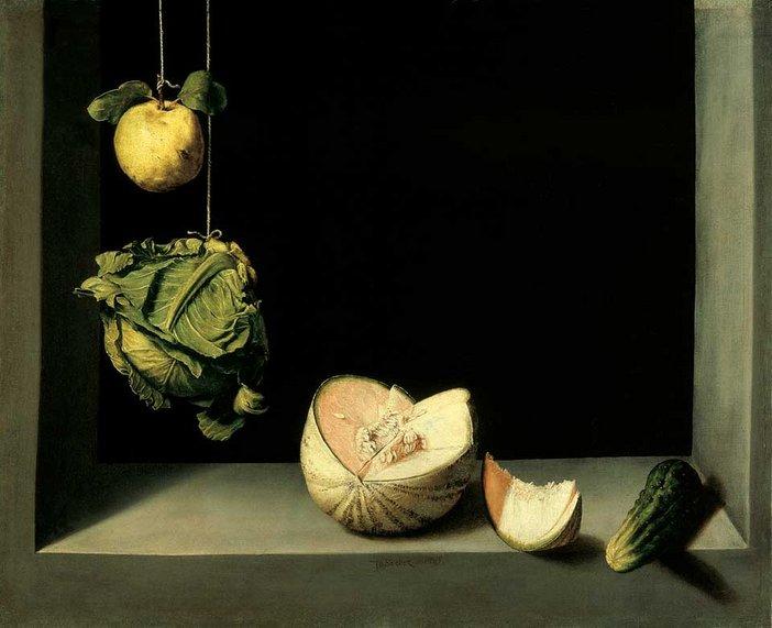 Juan Sanchez Cotan Quince Cabbage Melon and Cucumber circa 1602