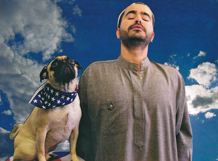 Image for promotional poster for Wafaa Bilal's performance Dog or Iraqi 2008