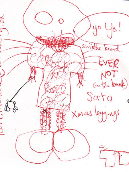 Drawing made during a children's workshop at Tate Liverpool 2008