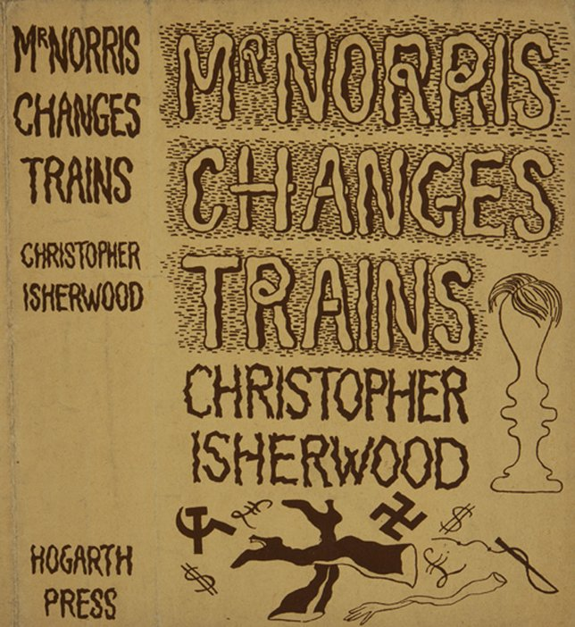 Dust jacket designed by John Banting for Christopher Isherwood's novel Mr Norris Changes Trains (1935)