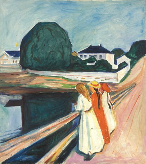 Edvard Munch The Girls on the Bridge 1927
