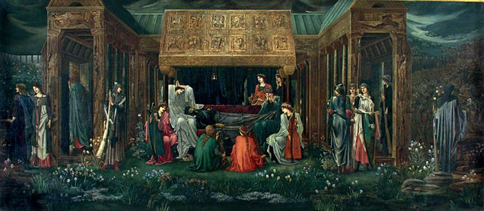 Edward Burne-Jones The Sleep of King Arthur in Avalon 1881–98