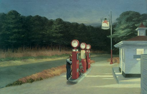 Edward Hopper Gas 1940 Oil on canvas
