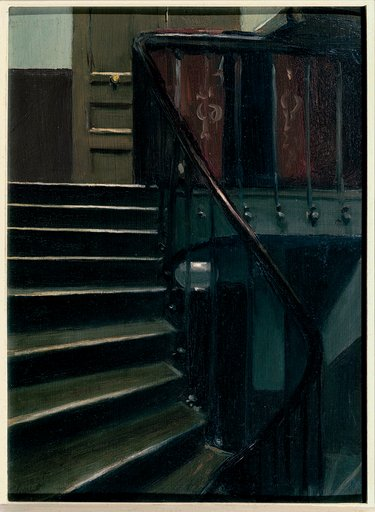 Edward Hopper Stairway at 48 rue de Lille Paris 1906