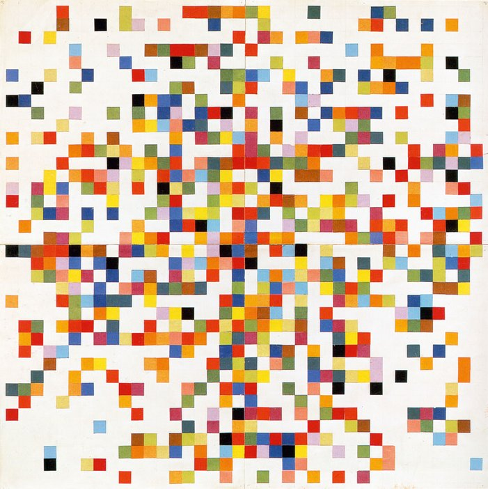 Ellsworth Kelly Spectrum Colors Arranged by Chance II 1951