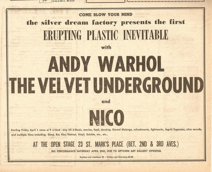 Andy Warhol and The Velvet Underground EPI poster