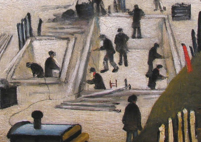 Excavating in Manchester 1932 Lowry