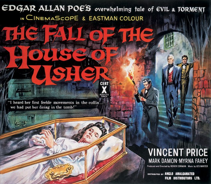 The Fall of the House of Usher 1960 Film poster