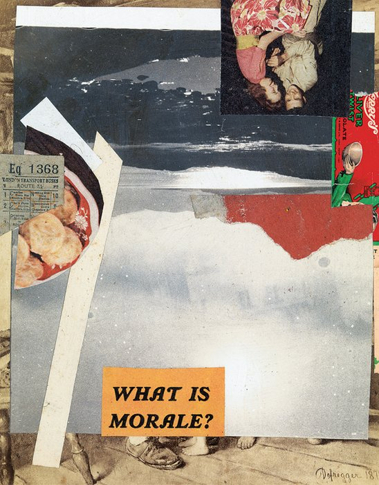 Kurt Schwitters, Untitled (The Doll), 1941-1942, Paper and photograph on cardboard, 24.5cmx18.9cm