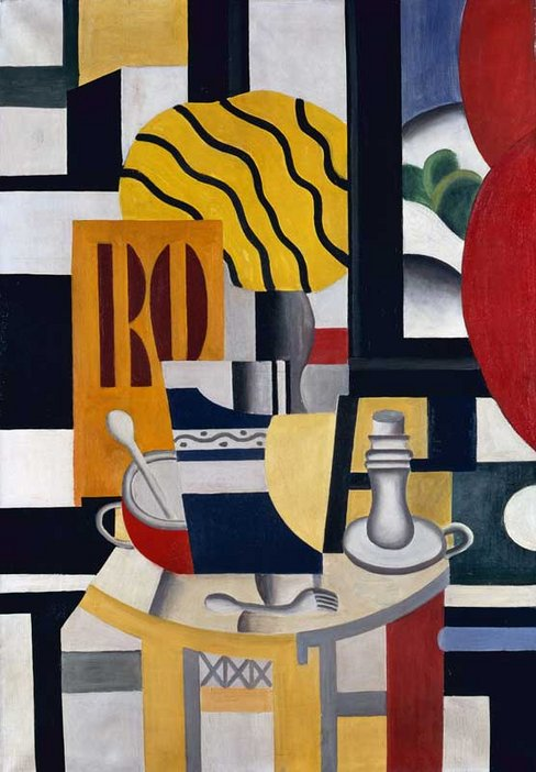 Lost Art: Theft of Five Paintings - Fernand Léger, Still Life with Candlestick 1922
