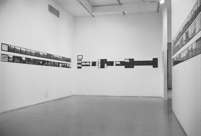 Installation view of Projects: Pier 18 at the Museum of Modern Art, New York, 1971, featuring the work of Gordon Matta-Clark