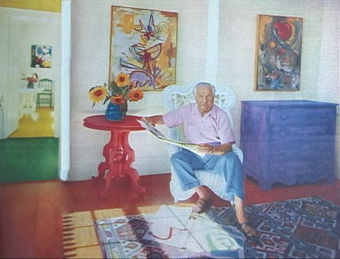"""Lead image from the article 'Living in a Painting: Hans Hofmann Has Made His House a Series of """"Still Lifes""""', Look, 28 July 1953, pp.52–5"""